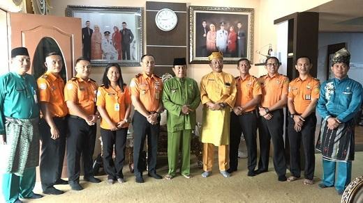 HM Wardan Koordinasi Rencana Pembangunan Gedung Pos SAR Tembilahan
