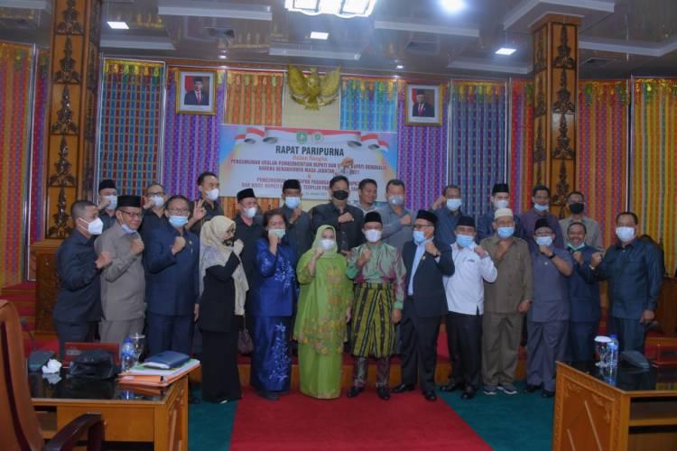 DPRD Bengkalis Paripurna Penetapan Kepala Daerah Terpilih