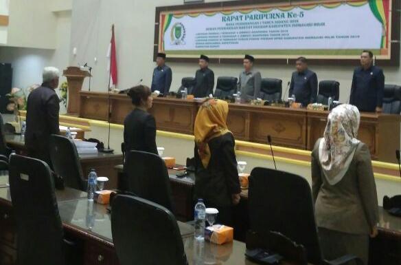 DPRD Inhil Gelar Rapat Paripurna Masa Persidangan I Tahun 2018