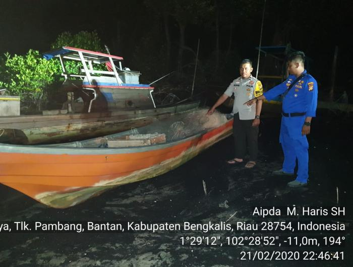 Hanyut, Nelayan Bengkalis Selamatkan Nelayan asal Malaysia