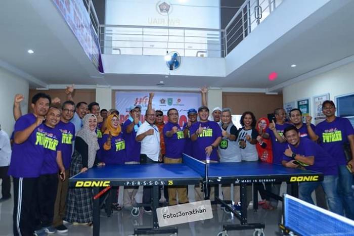 Berikut Hasil Lengkap Powarda Tenis Meja PWI Riau