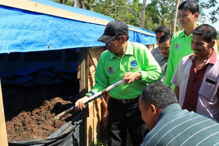 Bupati Kuansing Launching Pupuk Organik Bumdes Desa Luai