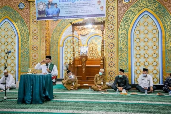 Walikota Dumai Ikuti Tabligh Akbar di Masjid Taqwa