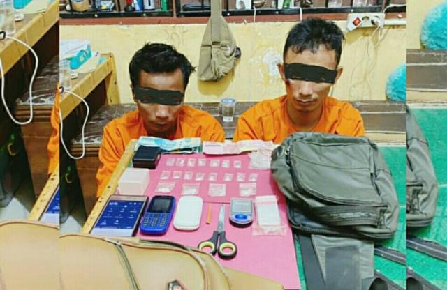 Mencoba Kabur, Dua Pengedar Sabu di Pelalawan Diciduk Polisi