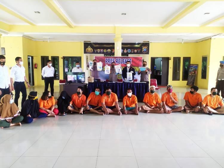 Operasi Antik Polres Rohil Tangkap 35 Tersangka Narkotika Lima Diantaranya Wanita