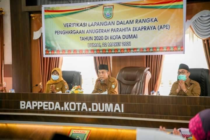 Walikota Dumai Pimpin Rapat Verifikasi Lapangan Penghargaan APE 2020