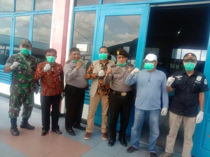 Pemkab Meranti Tinjau Kesiapan Tim Medis Covid 19 di Pelabuhan Tanjung Harapan