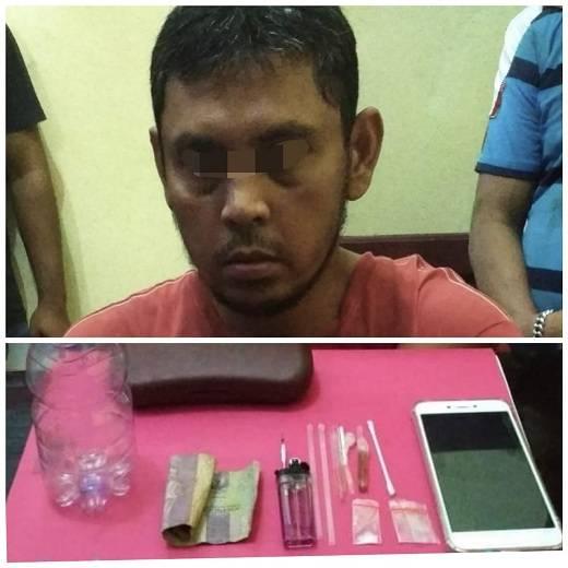 Polisi Ciduk Seorang Oknum ASN di Inhu Konsumsi Sabu