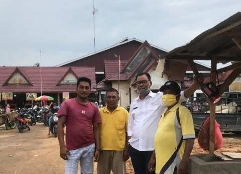 Bupati Rohil Tinjau Pasar dan Pembangunan Jalan