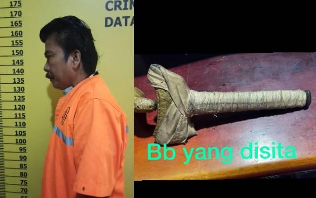 Ancam Pekerja SPBU dengan Sajam, Jon Gondrong Diringkus Polisi Bengkalis