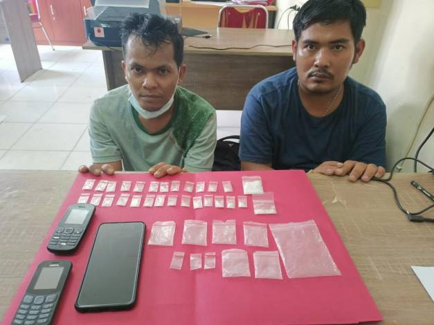 Dua Pengedar Sabu Dibekuk Polres Siak