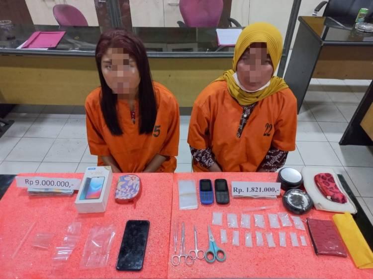 Edarkan Sabu, Bibi dan Ponakan Diciduk Polisi Inhil