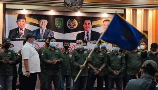 Zulmansyah Sekedang Lantik Pengurus PWI Inhil Periode 2020-2023