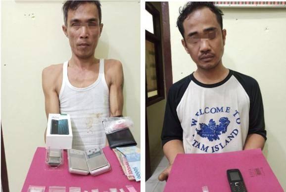 Polisi Inhu Ringkus Dua Pengedar Sabu