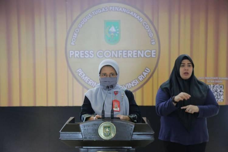 Update Covid 19 di Riau: Positif 95 Kasus, Dirawat 37 Orang