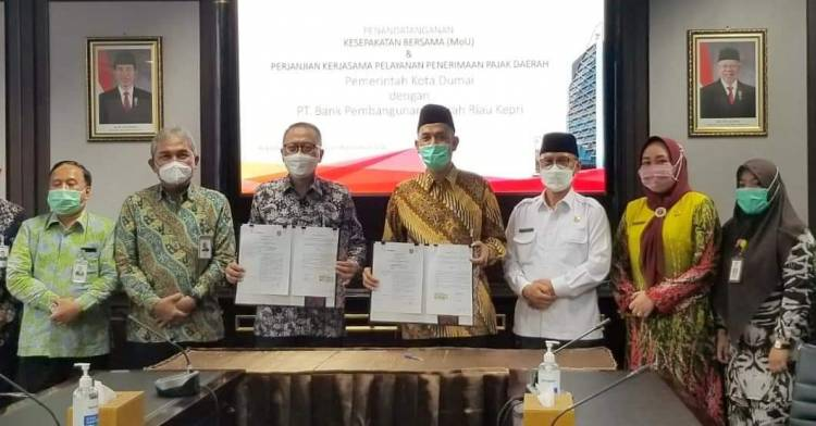 Walikota Dumai MoU dengan Bank Riau Kepri