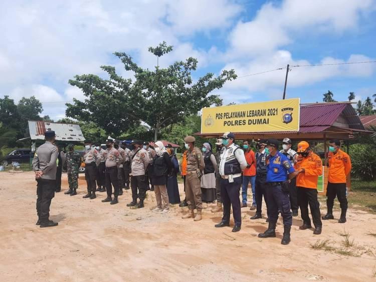 Polres Dumai Perketat Kunjungan Tempat Wisata dan Bubarkan Kerumunan Masyarakat