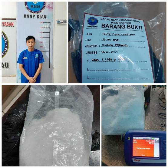 BNNP Riau Buru Ws Pemilik Satu Kilogram Sabu di Wilayah Rohil