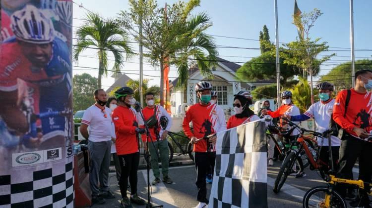 Bupati dan Kapolres Rohil Buka Fun Bike Sinergi