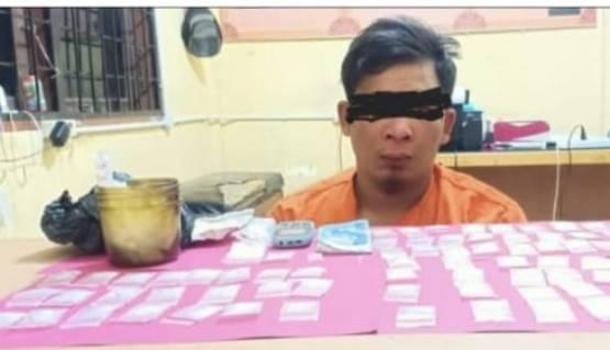 Polisi Pelalawan Ciduk Warga Bagan Balimau Miliki 76 Paket Sabu