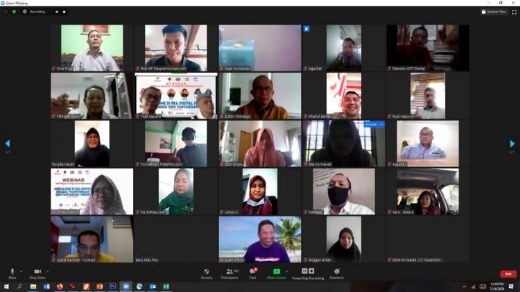 Gandeng Lima Organisasi Wartawan, SKK Migas dan KKKS Taja Webinar Secara Virtual