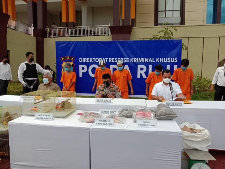 Polda Riau Bekuk Penjual Organ Satwa Dilindungi