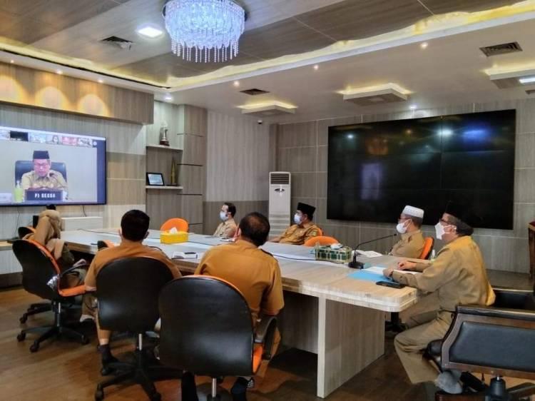 Sekda Arfan Ikuti Focus Group Discussion Virtual Grand Design Riau Digital 2021-2025