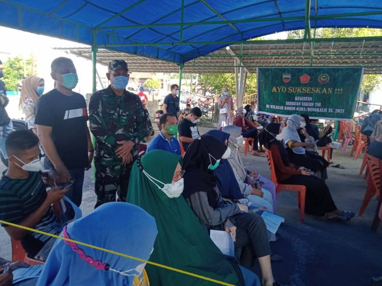Kodim 0303 Bengkalis Gelar Vaksin Serbuan TNI