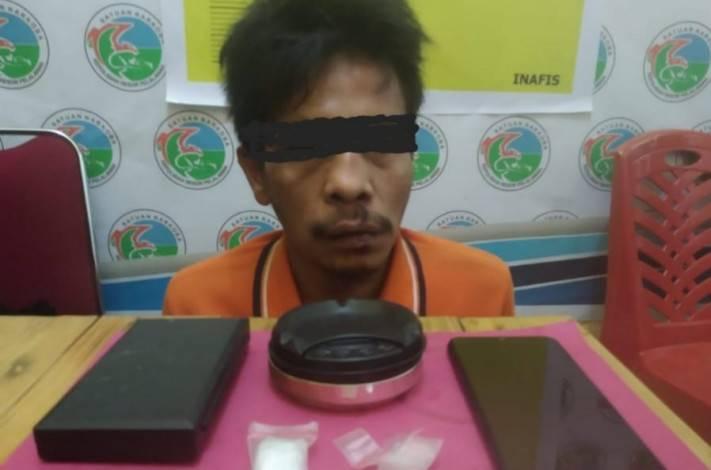 Polisi Pelalawan Tangkap Pengedar Sabu di Bandar Sikijang