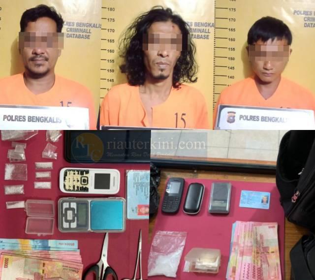Polisi Bengkalis Ciduk Pengedar dan Pengguna Sabu di Bukit Batu