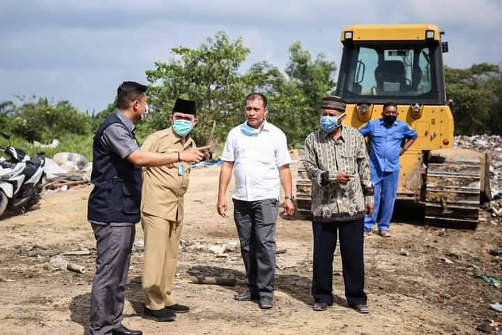 Walikota Dumai Tinjau Pembangunan Instalasi Pengolahan Lumpur Tinja