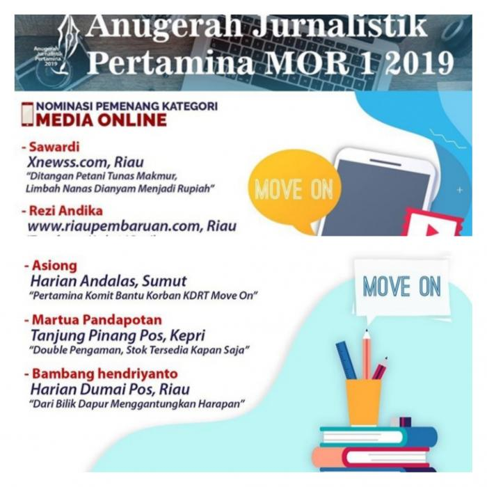 Tiga Wartawan PWI Dumai Nominator Anugerah Jurnalistik Pertamina MOR 1 2019