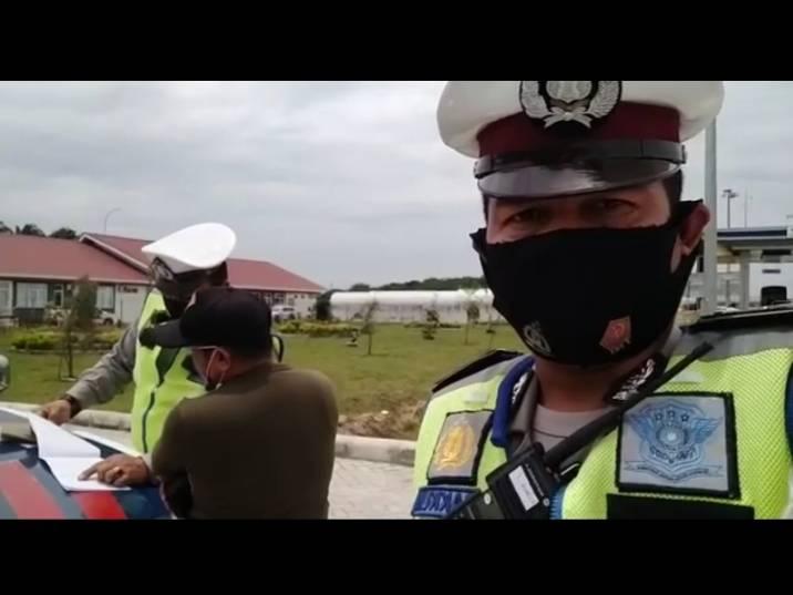 Dipantau Speed Gun, Pengendara Ditilang di Tol Permai
