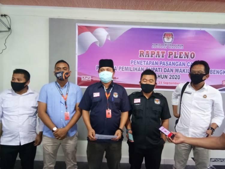 KPU Bengkalis Tetapkan Empat Pasang Calon Memenuhi Syarat Pilkada 2020
