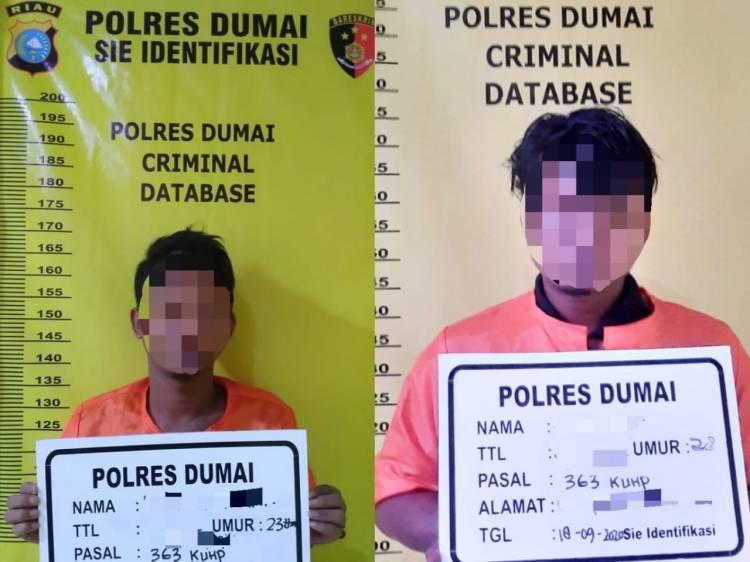 Dua Pelaku Curat di Dumai Diciduk Polisi
