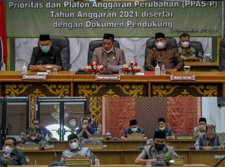 DPRD Dumai Terima Rancangan APBD Perubahan Tahun 2021