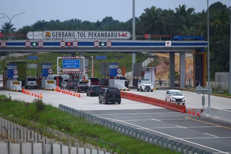 02 November 2020, Tol Pekanbaru-Dumai Berbayar