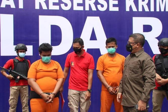 Polda Riau Ringkus Tiga Pembakar Mobil Ketua IPK Rohul