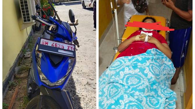 Kecelakaan Maut Antara Pemotor, Seorang Pelajar di Kota Lama Rohul Meninggal