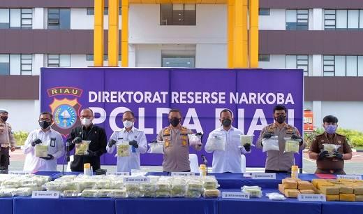 Polda Riau Sita 87 Kilogram Sabu
