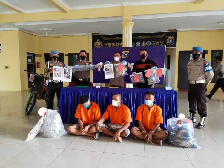 Polres Rohil Tangkap 3 Pelaku Pembunuhan di Sungai Nenas Tanjung Medan