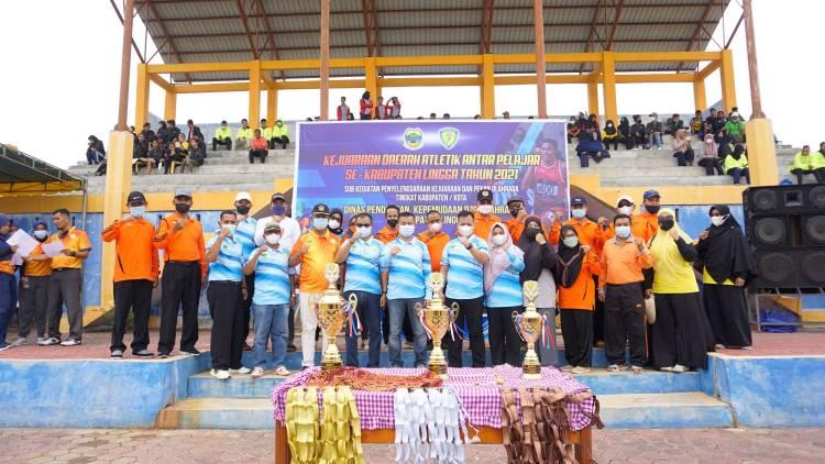 Bupati Lingga Berharap Kejurda Atletik 2021 Bertahan Juara Umum Tingkat Provinsi