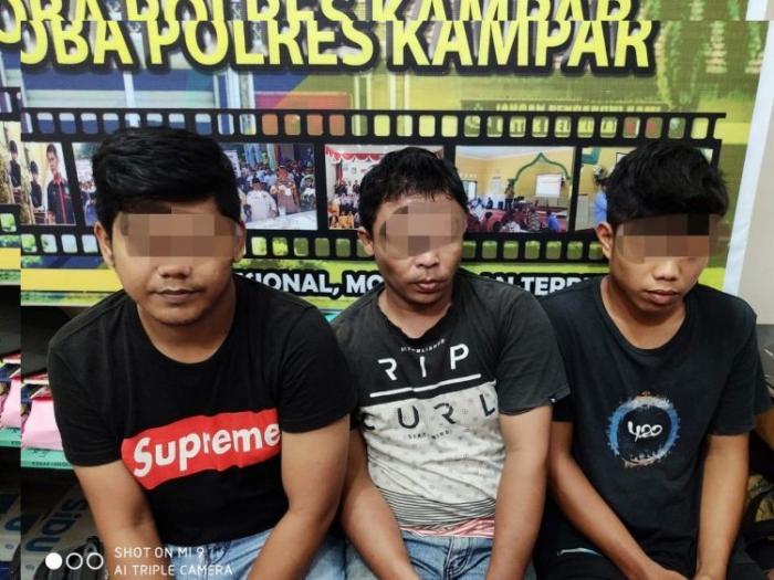 Polisi Kampar Bengkuk 4 Pelaku Narkotika