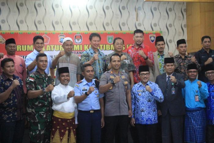 Polres Dumai Gelar Forum Silaturahmi Kamtibmas dan Deklarasi Pemilu Damai 2020