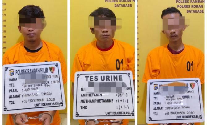 Tiga Pelaku Curanmor Lintas Provinsi Diciduk Polisi Rohul