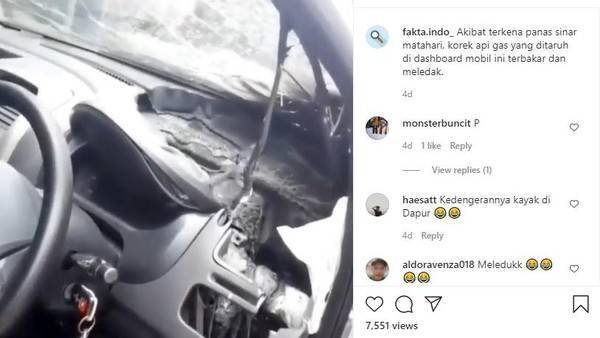 Ngeri, Korek Gas Tertinggal di Dalam Mobil